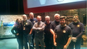 Food Network Star Alton Brown Take a Photo moment with Stagehands at the Rialto